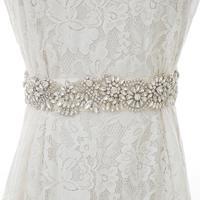 Silver Rhinestones Bridal Belt Handmade Pearls Wedding Belt Crystal Flower Wedding Sash For Wedding Accessories S142S