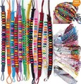 24pcs 12colors Wholesale Lots Beads Braid Handmade Fashion Friendship Bracelets For women