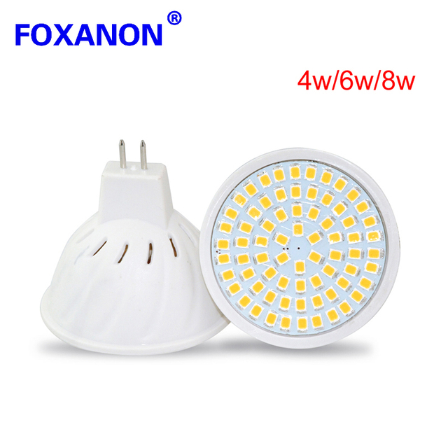 1 stks spotlight led lamp 8 w 6 w 4 w mr16 gu53 220
