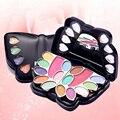 12 PCS Pro Makeup Brush Set Makeup Tool Kits Leopard Bag Practical Cosmetic Palette combination  FE#8