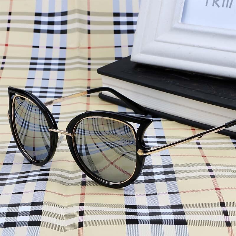 Vintage Sexy Cat Eye Sunglasses Wanita Merek Desain Fashion Logam Bingkai  Coating Vintage Sun Glasses Gafas oculos de grau feminino d21202bd50