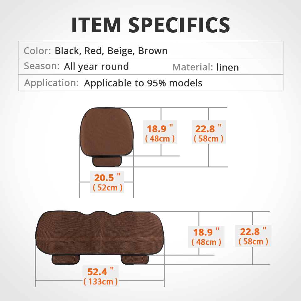 Partol Universal Car Seat Covers Breathable Auto Seat Protector Front Rear Automobile Seat Cover Cushion Pad Mat Accessories in Automobiles Seat Covers from Automobiles Motorcycles