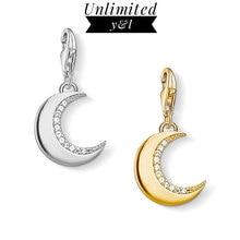 6cca973b00ec Oro plata Color Luna encantos 925 plata esterlina blanco CZ DIY moda buena  joyería Fit Thomas estilo pulsera Mujer hombres