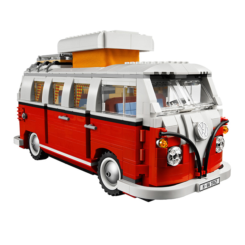 21001 Create Series Creator Volkswagen T1 Camper Van 1354Pcs Model Building Block Brick Toys Compatible 10220 Legoed lepin 22001 pirate ship imperial warships model building block briks toys gift 1717pcs compatible legoed 10210