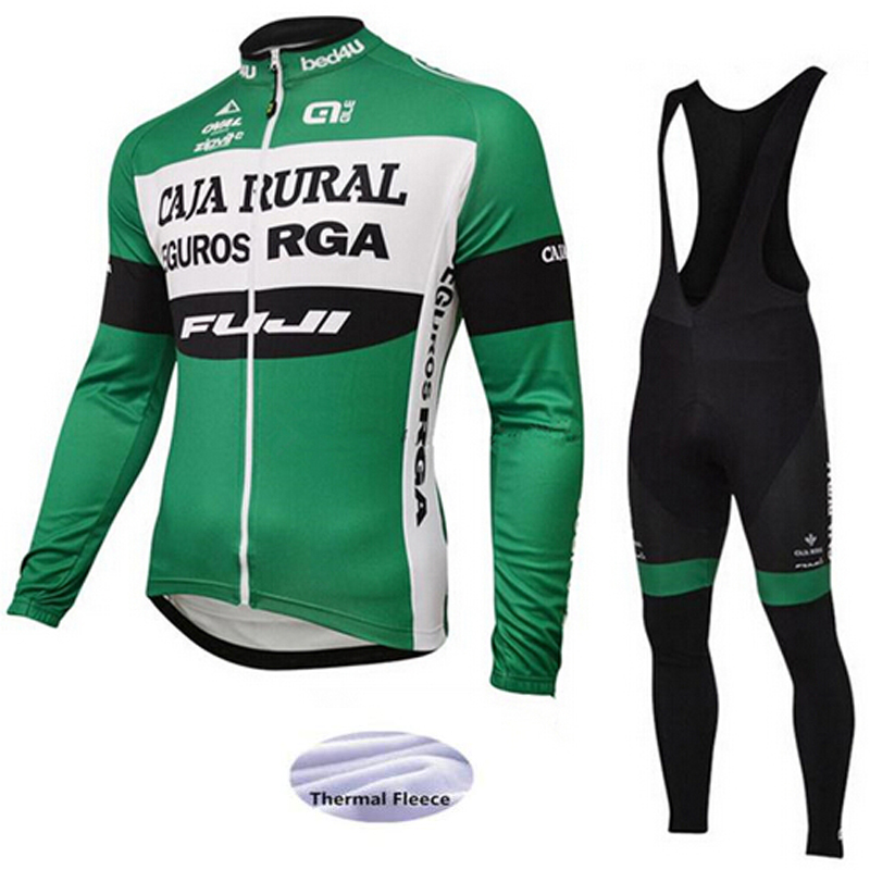 ALE Winter Thermal Fleece Clothes Cycling Jersey Bib Pants MTB Bicycle Wear Set Ropa Maillot Ciclismo