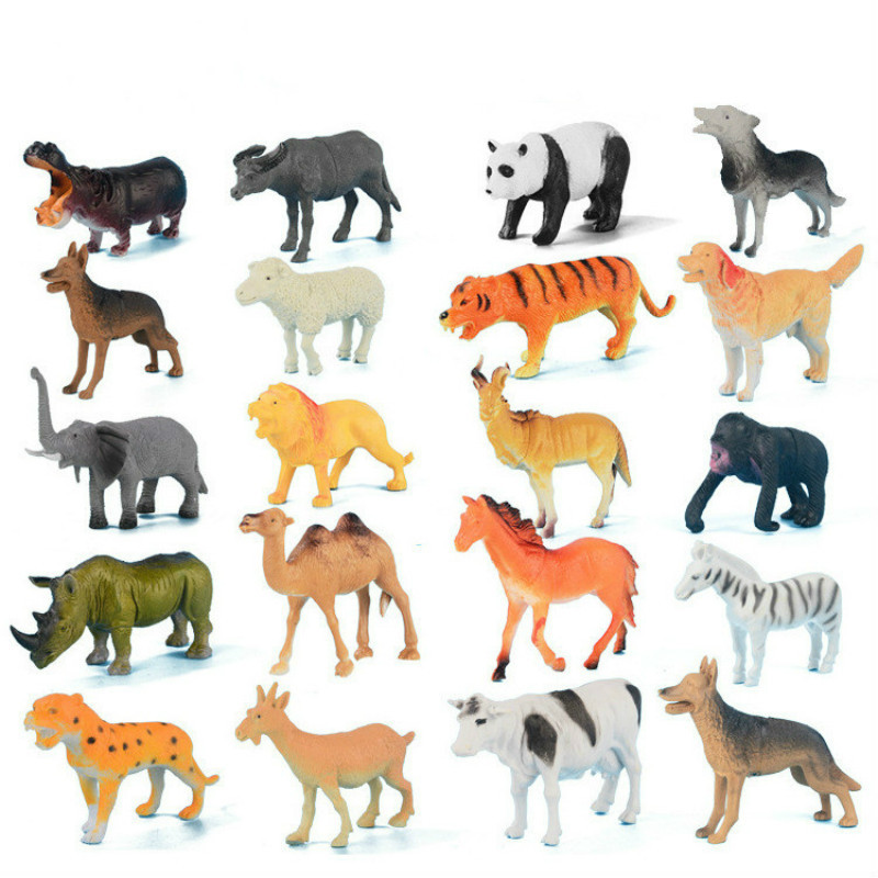 animals different zoo animal wild plastic toys forest material pcs children gift 13cm simulation toy kid hobbies action figures