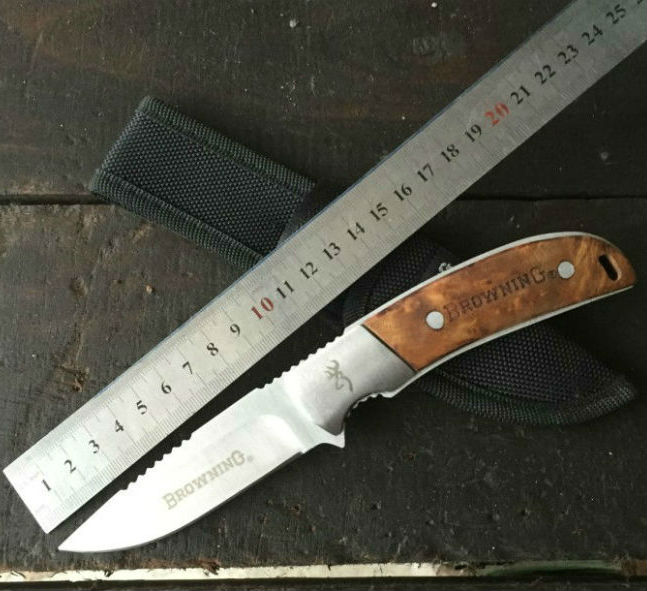 Hot Browning Survival font b Knife b font Fixed Blade font b Knife b font With