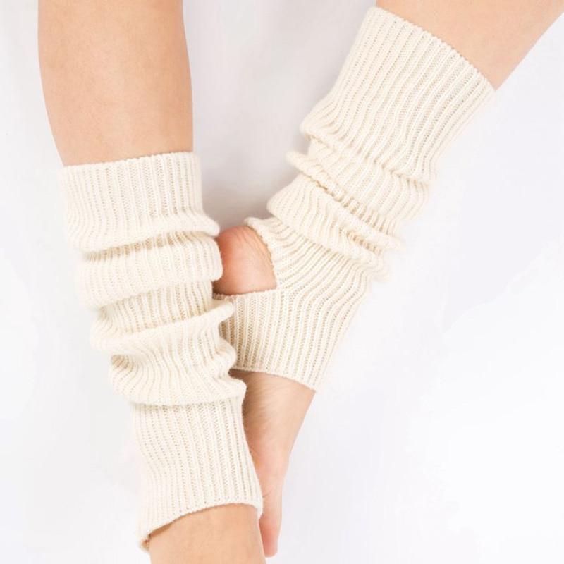 Woman Yoga Socks Gym Fitness Dancing Female Daily Wear Exercising Keep Warm Latin Dance Long Section Knitting Walking SCL051