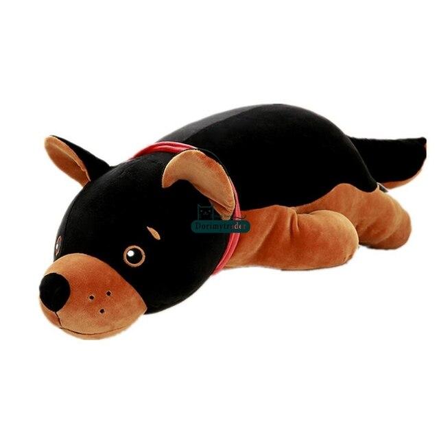 Dormytrader 90 cm Big Simulato Animale Cane Giocattoli di Peluche Morbido  Peluche Gigante Nero Bambola Cucciolo