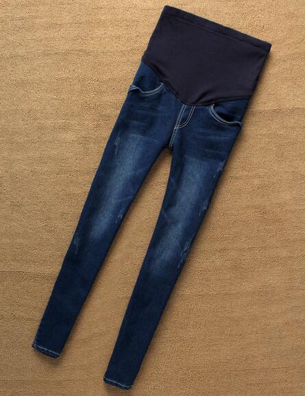 Maternità Jeans Per La Gravidanza Abiti Offerta Speciale 2016 Elastico In Vita Denim Pantaloni Per Le Donne Incinte Skinny Jeans Materiali Accuratamente Selezionati