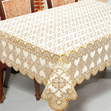 PVC Tablecloth Oilproof Waterproof Jacquard Rectangle Table Cover Table Cloths For Events Decor Embroidered Tablecloths Sale