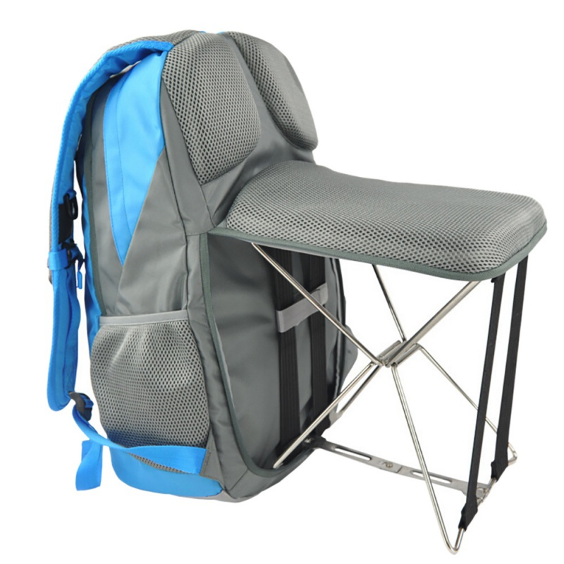 New Outdoor Use Chair Backpack Outdoor Fishing Chair Portable Folding Stool Backpack Portable Trave Climbingl