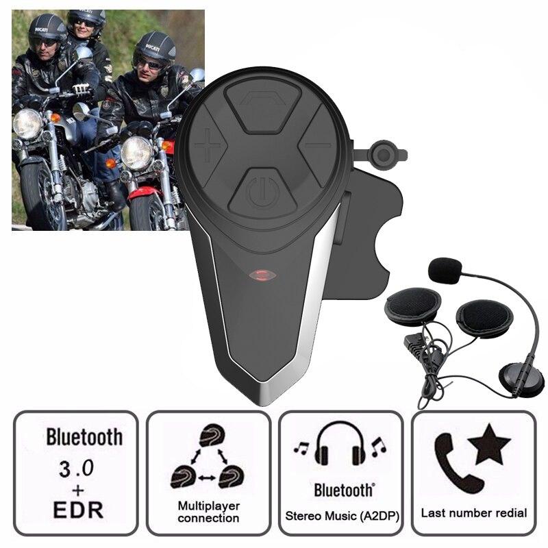 BT S3 Multi BT Interphone 1000M Motorcycle Bluetooth Helmet Intercom Intercomunicador Moto Interfones Headset for 3
