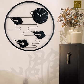 Chinese Home Trend Wall Clock Quartz Dimensional Sticker Watch Wall Zegar Decorations Living Room Wanduhren Decor Clocks WKP055