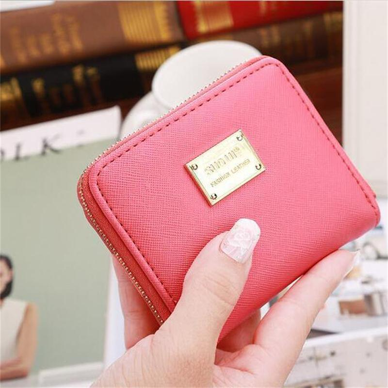 Fashion coin bag Candy Colors Women Wallets Short Leather PU Zipper Small Wallet Purse Cards Holder For Girls Women Laddies pu leather wallet heels wallet phone package purse female clutches coin purse cards holder bag for women 2415