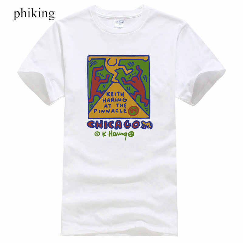 e5b9f540e Shirt Deals Men's Vintage Mens T-Shirt 80S 90S Keith Haring At Gallery 37  Chicago
