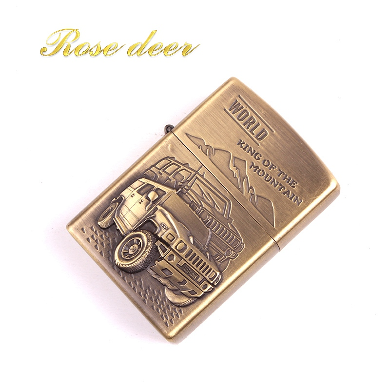 Metal attached present hell detective CAR kerosene lighter Windproof Smoking konstantine Vintage Style oil Lighter