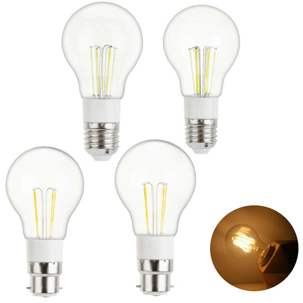 High Quality Vintage LED Edison Bulb Retro A55 E27 3W 4W 6W Home Decoration Light B22 Bayonet Lamp AC 85-265V DC 12V