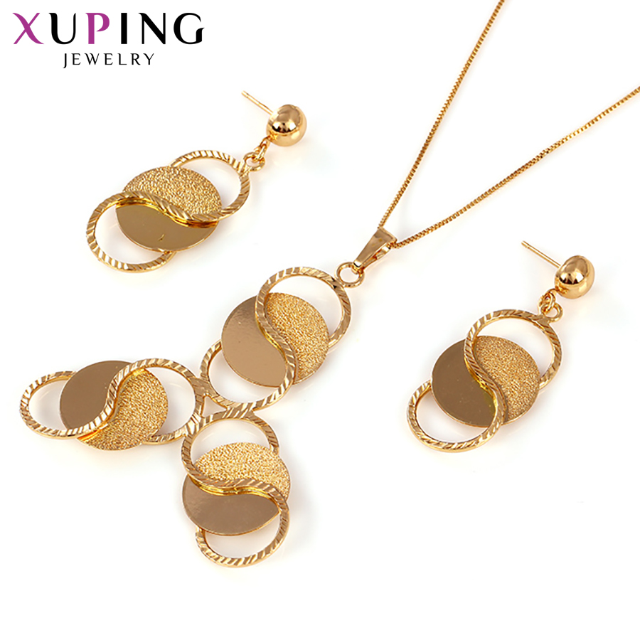 Xuping Simple New Arrival Breaking Through Tradition Gold Color Plated  High Quality Trendy Jewelry Sets for Women S138.6-60984Xuping Simple New Arrival Breaking Through Tradition Gold Color Plated  High Quality Trendy Jewelry Sets for Women S138.6-60984