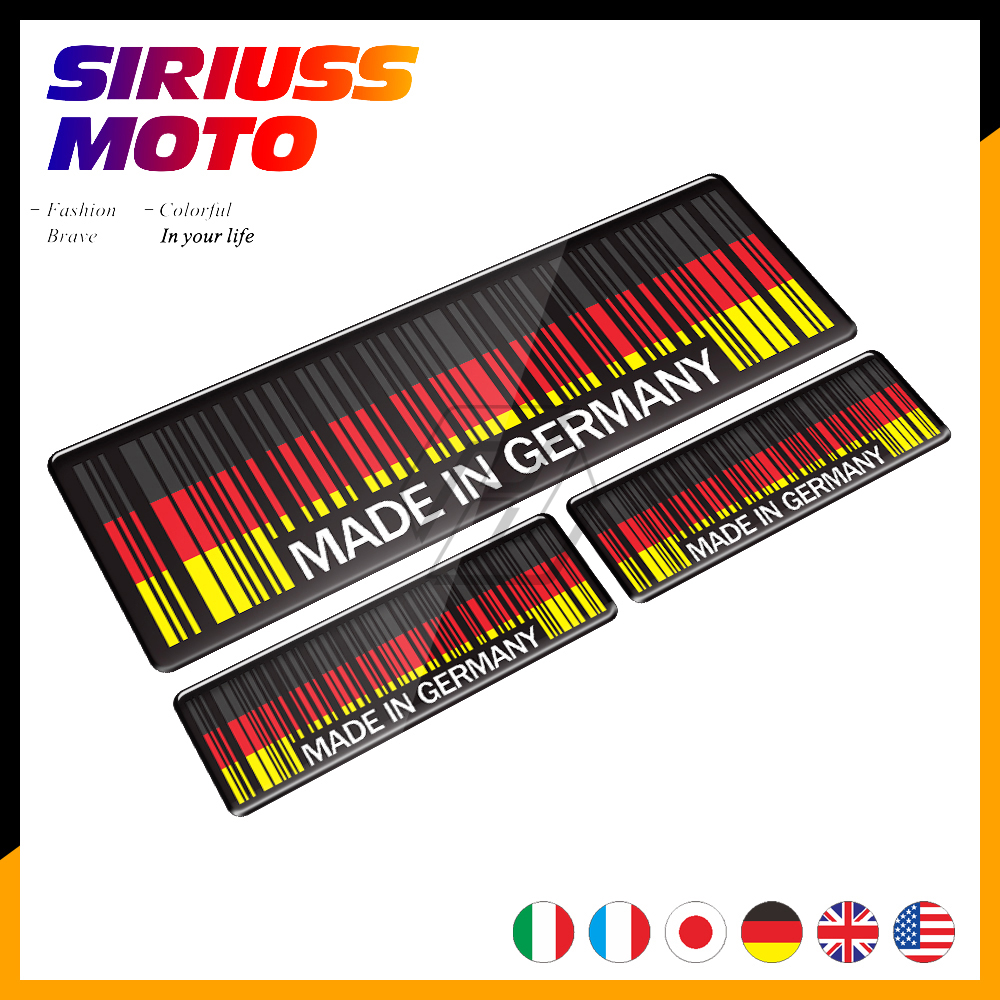 3D Bar Code Sticker Made In Germany In UK Italy Motorcycle Tank Pad Decal Motorbike Helmet Stickers Case For AGV Shark Shoei