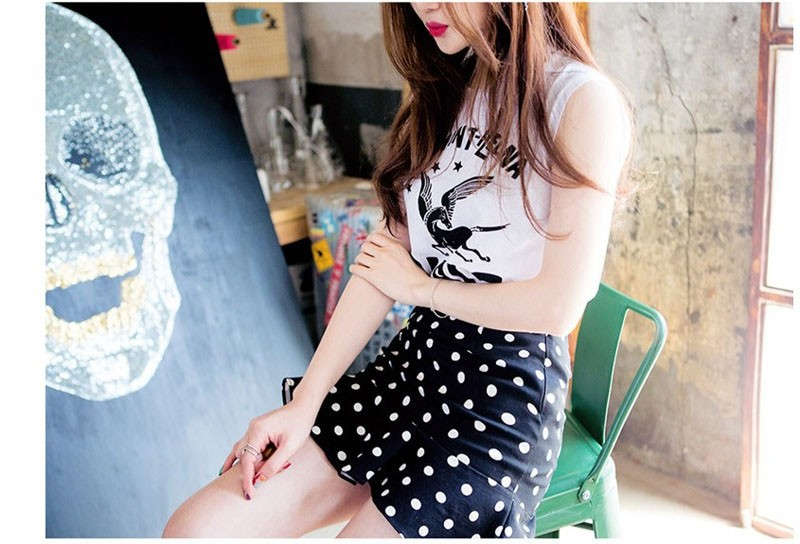 09397bcb6a 2015 summer new South Korea fashion Fishtail skirt Wave point Tall waist  Mini Short skirts Factory direct sale