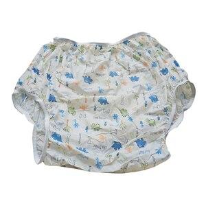 Image 4 - 성인 크기 공룡 패턴 성인 아기 플라스틱 기저귀를 당겨 PVC 기저귀 바지 ABDL