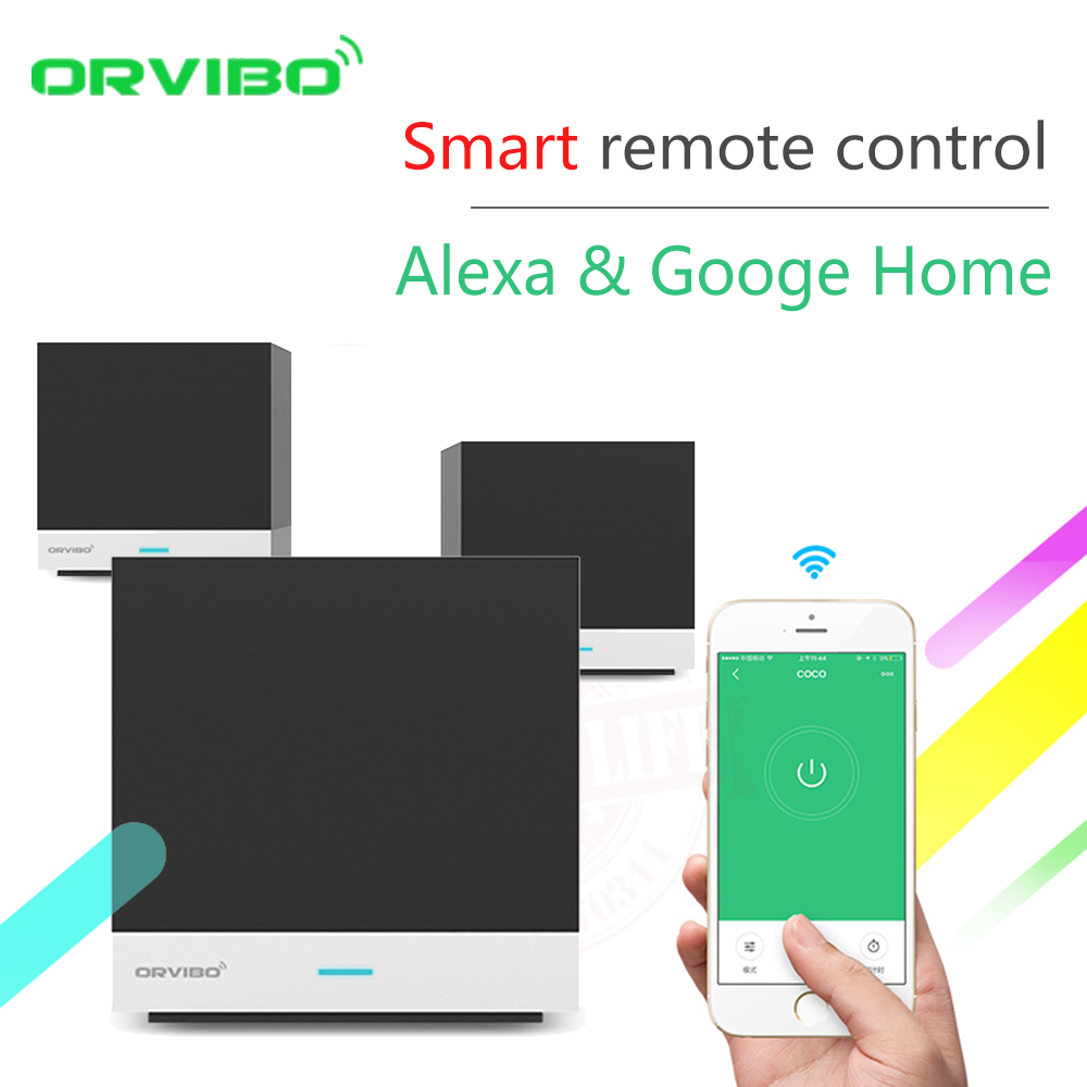 Alexa & google casa orvibo xiaofang automação residencial inteligente magiccube wifi ir controle remoto por ios android