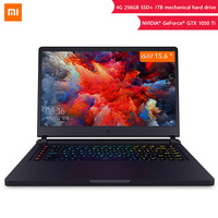 Original Xiaomi Mi Game Laptop 15.6 inch GTX 1050Ti Notebook 8th Enhance SSD 256G+1TB 8G i7 Six Core/i5 Quad Core Computer PC