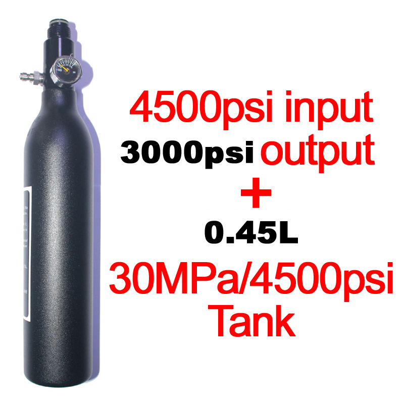 Купить с кэшбэком Paintball PCP Diving Mountaineering Air Tank Cylinder 4500psi/30MPA 0.2 0.35 0.45L HPA High Compressed Bottle M18*1.5 regulator