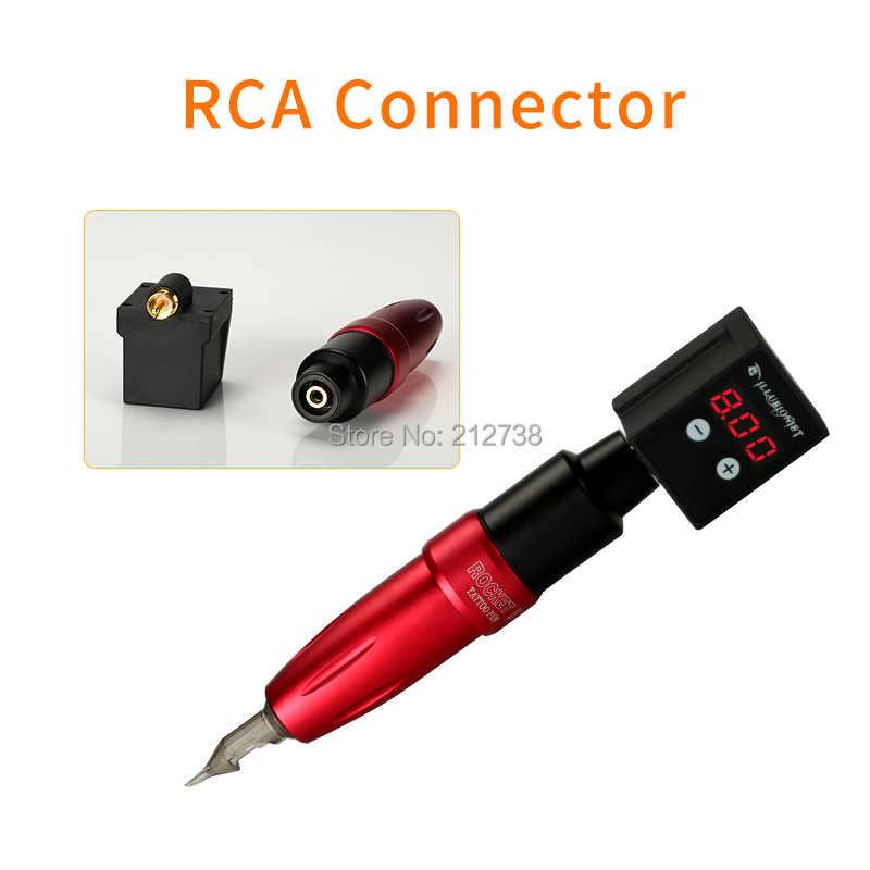 2019 fuente de alimentación inalámbrica más nueva Mini fuente de alimentación de tatuaje Pantalla LCD portátil RCA/CC conector proveedor para máquina de tatuaje de pluma
