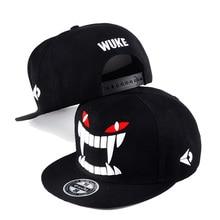 2019 New Fashion Men Hip Hop Cap Devil Teeth Embroidery Snapback Caps For Women Baseball Cap Adjustable Street Dancer Hat все цены