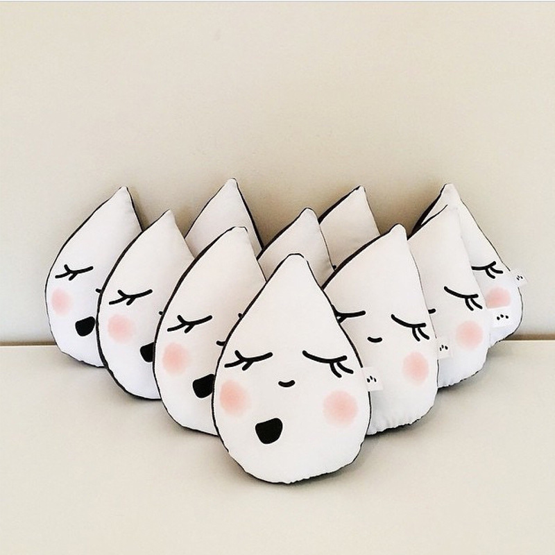 Cotton Baby Pillow Cartoon Lovely Bear Raindrops Soft  Newborn Posing Pillow appease Cushion Doll Baby Neck Bedding Decorations