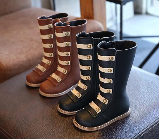 Hot Sell Children Shoes PU Leather Waterproof Kids Snow Boots Brand Girls Boys Rubber Boots Fashion Winter Sneakers Baby Boots ...