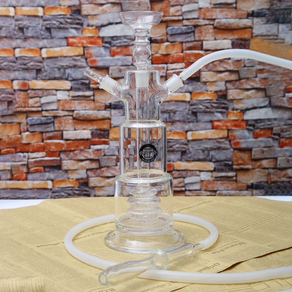 1 pc new design complete genuine led tower clear glass shisha hookah narguile chicha with water proof 16colors led light remote|Shisha Pipes & Accessories| |  - title=
