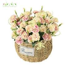 1 шт. Хризантема ветвь цветка искусственные нетканые ткани украшения дома Искусственные цветы кружева декоративные