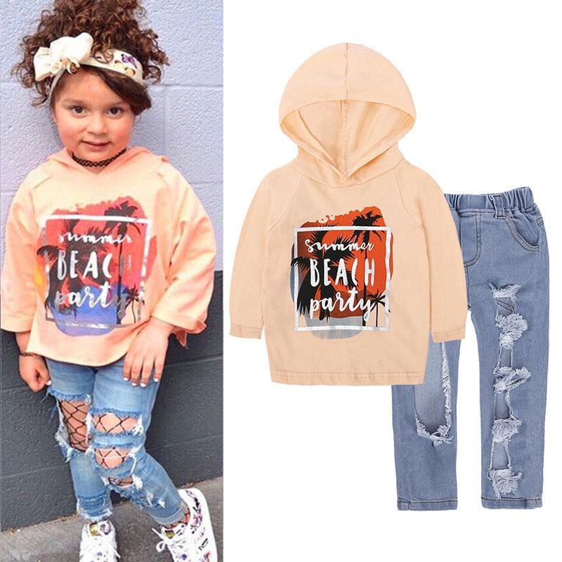 63cf0157f LZH ropa para niños 2018 Otoño Invierno niñas ropa camiseta + Pantalones  trajes niños ropa chándal traje para niñas conjuntos de ropa