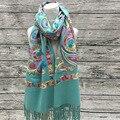 Mantón de la cachemira de alto grado femenino bordado viento nacional bordado chales bufandas de cachemira bufandas al por mayor fabricantes