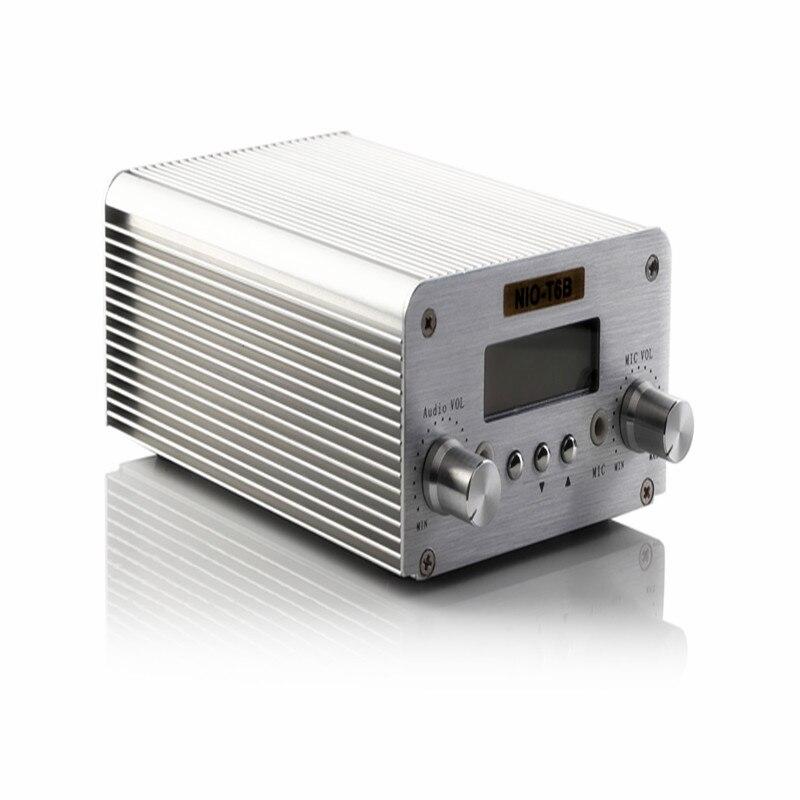 Frete Grátis Professional NIO-T6B 1 W/6 W FM Transmissão Equipamento de Rádio com Controle de PC