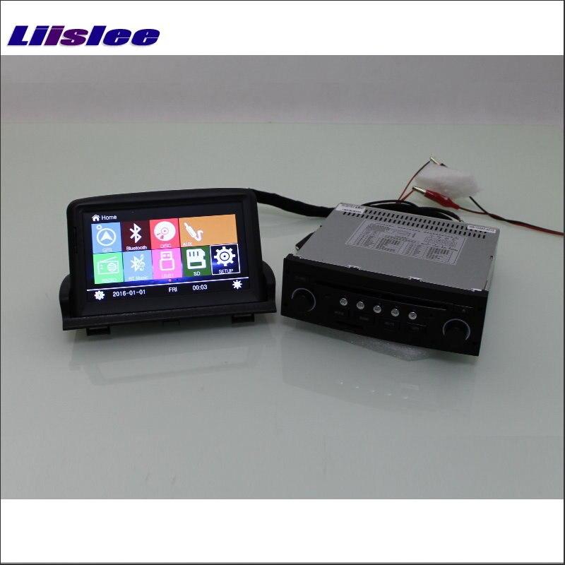 Liislee pour Peugeot 307-autoradio lecteur CD DVD écran HD Audio stéréo GPS carte Navigation Navi Navigation S100 système multimédia
