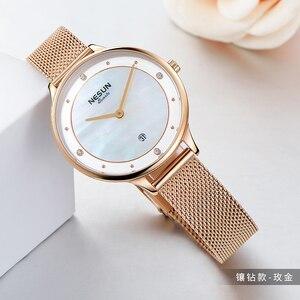 Image 2 - Switzerland Top Luxury Brand Nesun Womens Watches Japan Import Quartz Watch Women Relogio Feminino Diamond Wristwatches N8805 1