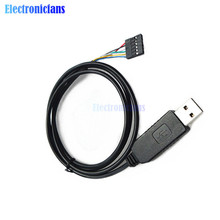 6Pin FTDI FT232RL USB to TTL UART Serial Wire Adapter RS232 Download Cable Module LED Indicator 3.3/5V for Arduino(China)