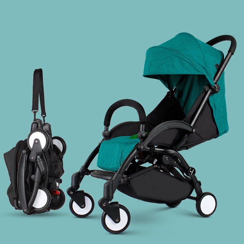 2018 New Style baby2B1 stroller light folding umbrella car can sit can lie ultra-light portable on the airplane