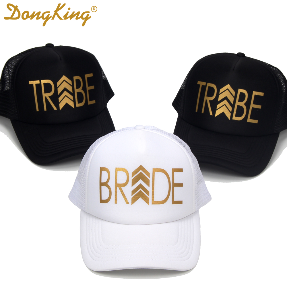 DongKing Bride Tribe Hats Bachelorette Party Trucker Hat Bridal Party Caps  Bride Tribe Snapback Top Quality BRIDESMAID Gift-in Baseball Caps from  Apparel ... 0f87cb5e7bb