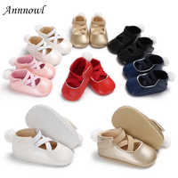 2018 Brand New Fashion Baby Girls Crib Shoes Newborn Toddler Infant Elastic Band Soft Sole Leather Loafers Baby Shoes 0-18 Month