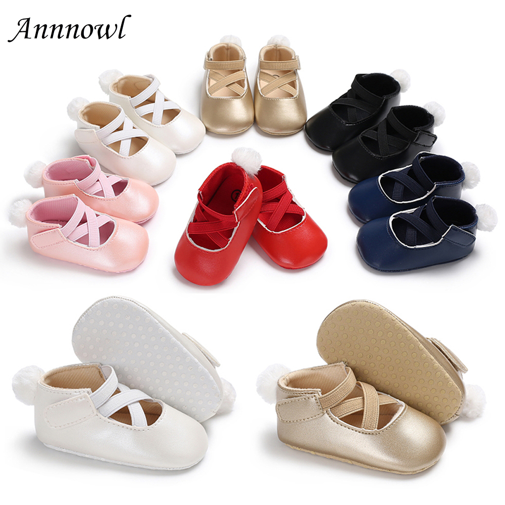 First Walkers 2018 Infant Baby Kids Soft Sole Princess Shoes Girl Toddler Crib Bow Moccasin Shoes 100% Original