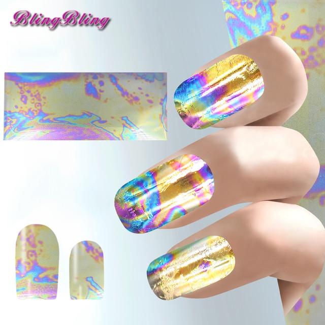 Aliexpress Buy 3pcs Shiny Nail Sticker Holographic Nail Art