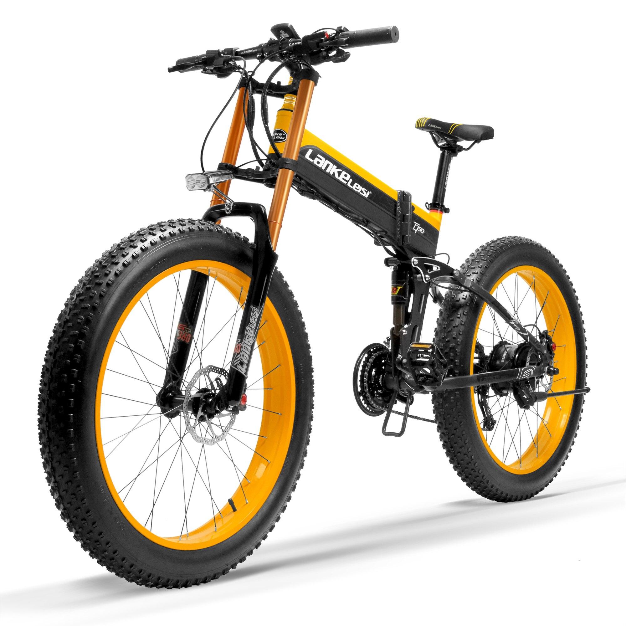 T750Plus nouveau vélo Ebike 27 vitesses, 1000W 48V 14.5Ah forte puissance, capteur d'assistance à la pédale à 5 niveaux, vélo de neige à fourche de descente
