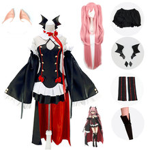 Anime Seraph Of The End Owari no Seraph Krul Tepes Uniform Cosplay Costume Full Set Dress OutfitFestival party costumescosplay все цены