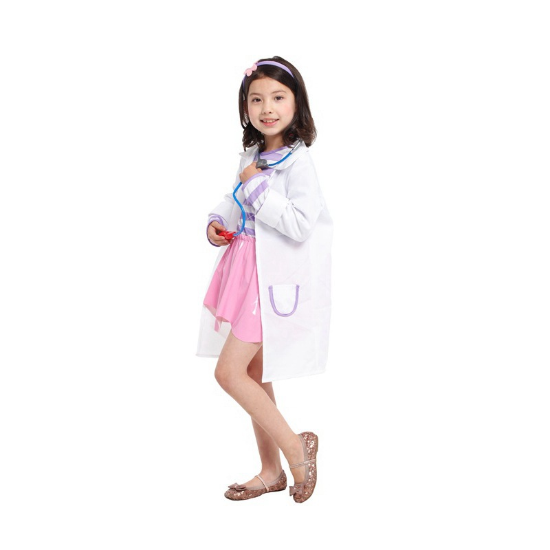 hot funny halloween costume for kids kindergarten girls doctors vocational nurse role play performance clothing white coat yw009 in girls costumes from - Kids Doctor Halloween Costume