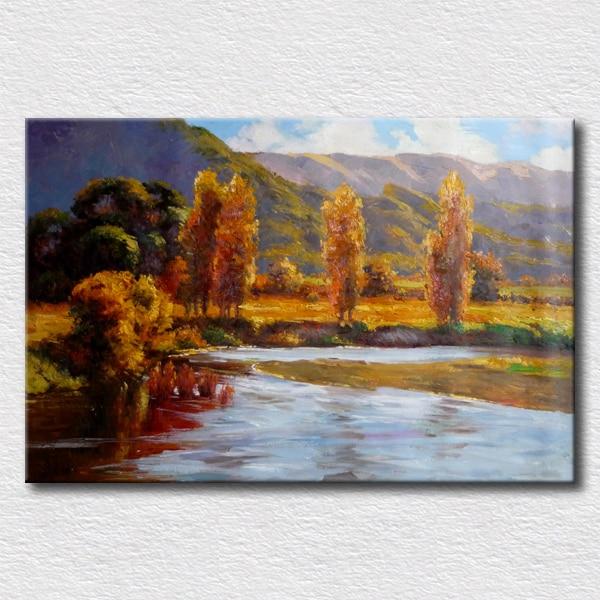 pintura al leo del paisaje cuadros del diseo para oficina sala decoracin de la pared pintura regalo nico para los amigos